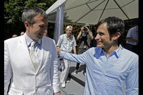 Olivier Pere with Gael Garcia Bernal
